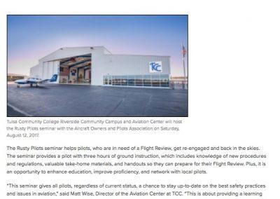 TCC Rusty Pilots News Release